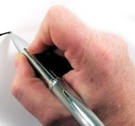 mano bolígrafo