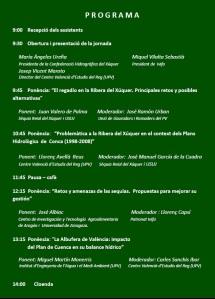 programa jornada planificación hidrológica